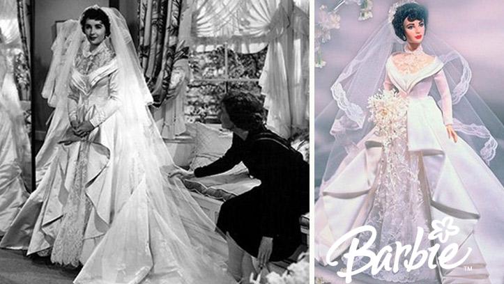 Кукла Барби в свадебном образе Элизабетт Тейлор