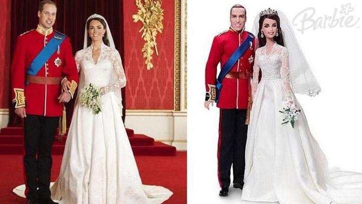 Кукла Барби в свадебном образе Кейт Миддлтон