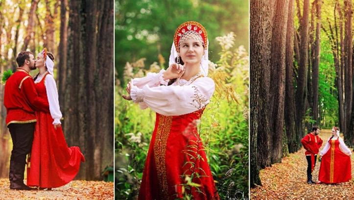 Свадебный сарафан невесты на Руси