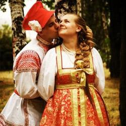 Русский свадебный стол