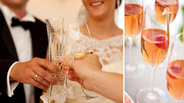 Напитки на свадебном столе