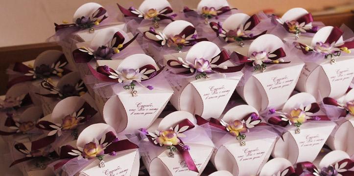 Сладкие бомбоньерки на свадьбу