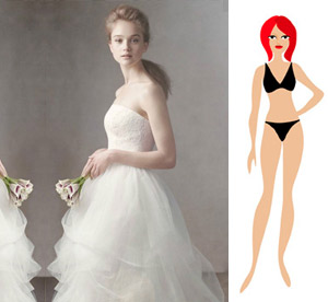 """Свадебное платье на фигуру типа """"Песочные часы"""""""