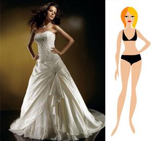"Свадебное платье на фигуру типа ""Груша"""