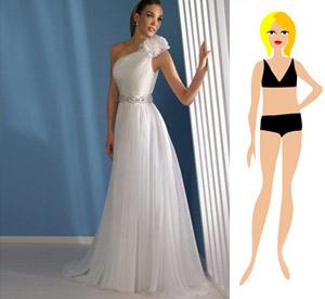 Свадебное платье на фигуру-прямоугольник